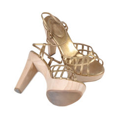 Sergio rossi criss cross open toe heels 2