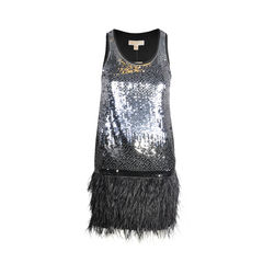 Sequinned Feather Dress