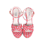 Authentic Second Hand Miu Miu Polka Dotted Sandals (PSS-075-00006) - Thumbnail 0