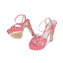 Authentic Second Hand Miu Miu Polka Dotted Sandals (PSS-075-00006) - Thumbnail 1