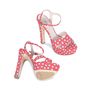 Authentic Second Hand Miu Miu Polka Dotted Sandals (PSS-075-00006) - Thumbnail 2