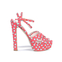 Authentic Second Hand Miu Miu Polka Dotted Sandals (PSS-075-00006) - Thumbnail 3