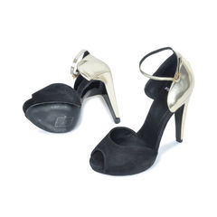 Pierre hardy metallic heel sandals 2