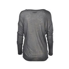 Zadig voltaire shimmer sleeved top 2
