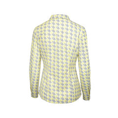 Prada long sleeve blouse printed with button in front 2