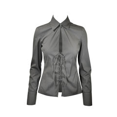 Long Sleeve Blouse With Tie Front