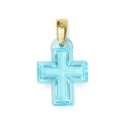 Lalique crystal cross pendant 2