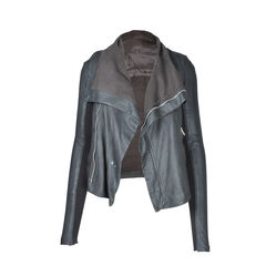 Rick owens leather draped jacket 2