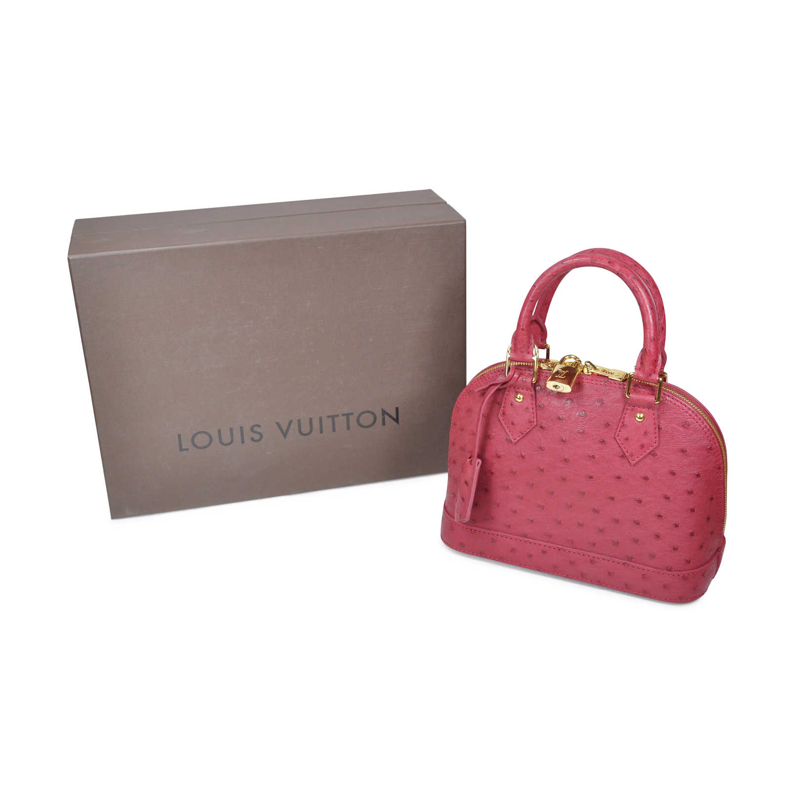 ... Authentic Pre Owned Louis Vuitton Ostrich Alma BB Bag (PSS-020-00019) b875f682a
