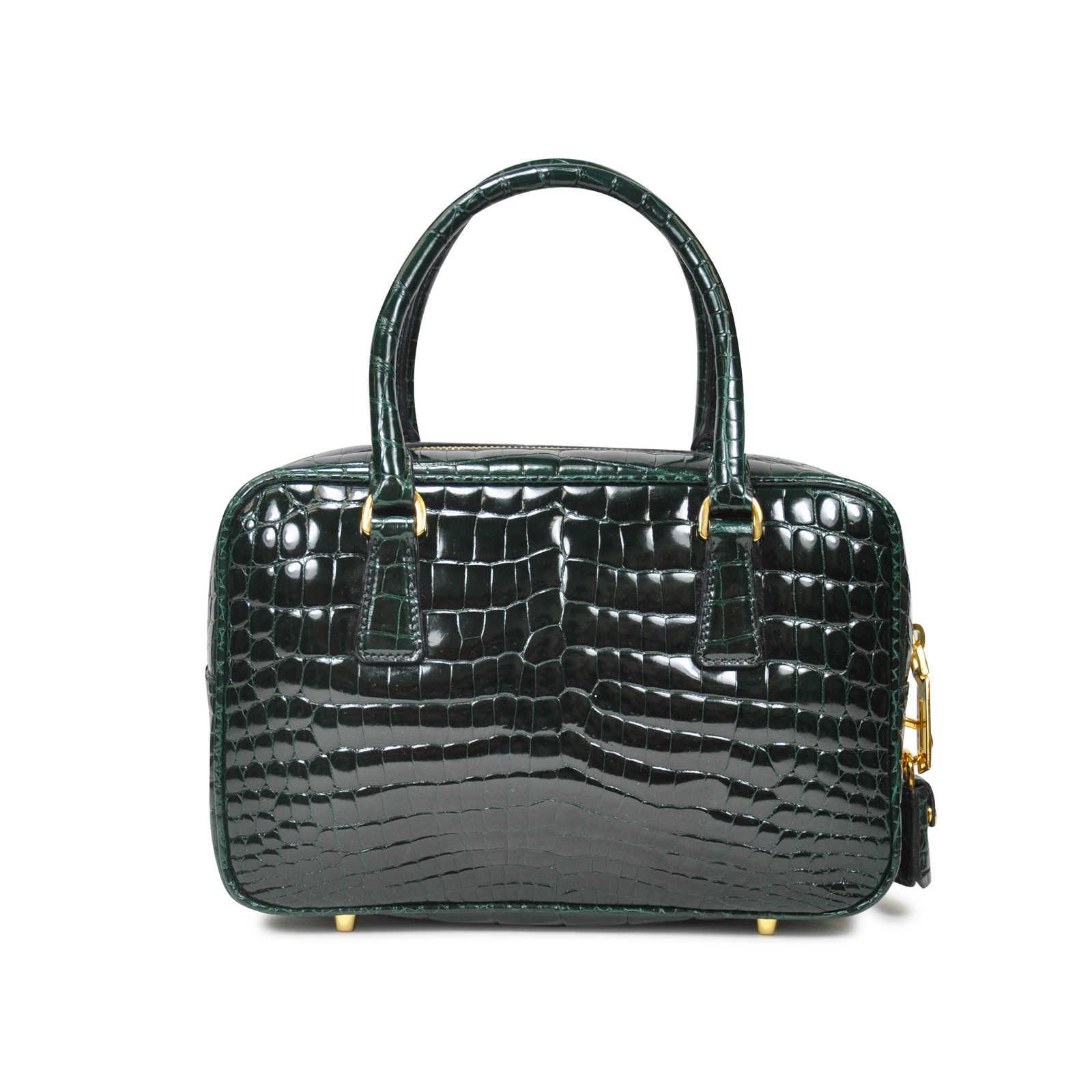 Authentic Pre Owned Prada Crocodile Handbag Pss 020 00020 Thumbnail 1