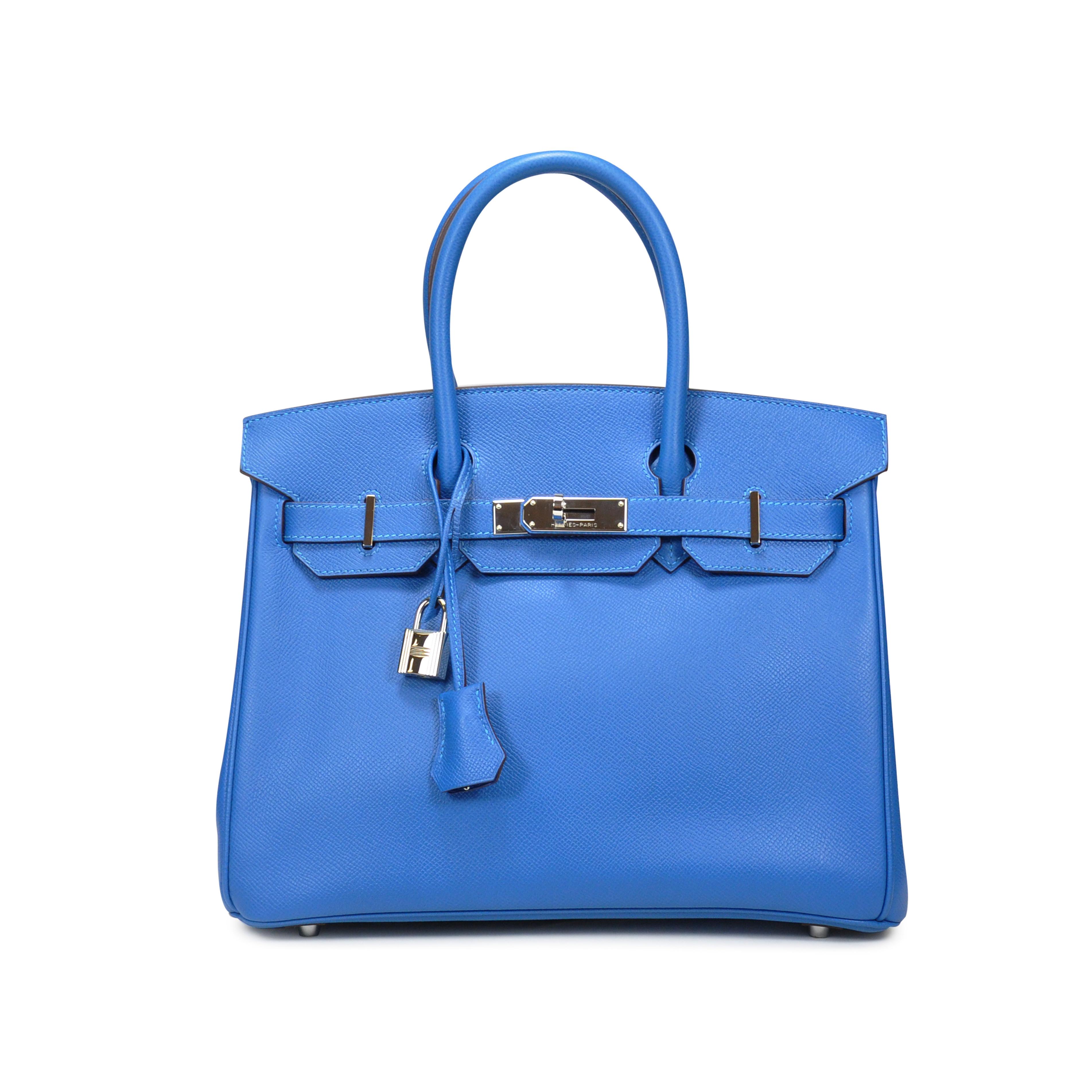 b3c24632621d Authentic Second Hand Hermès Blue Mykonos Birkin (PSS-020-00023)   THE  FIFTH COLLECTION