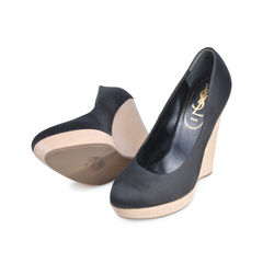 Yves saint laurent satin wedges 3