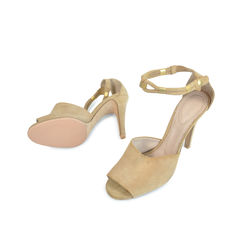 Chloe suede sandals with ankle detail 2
