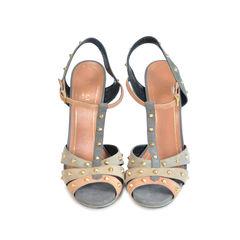 Suede Stud Sandals