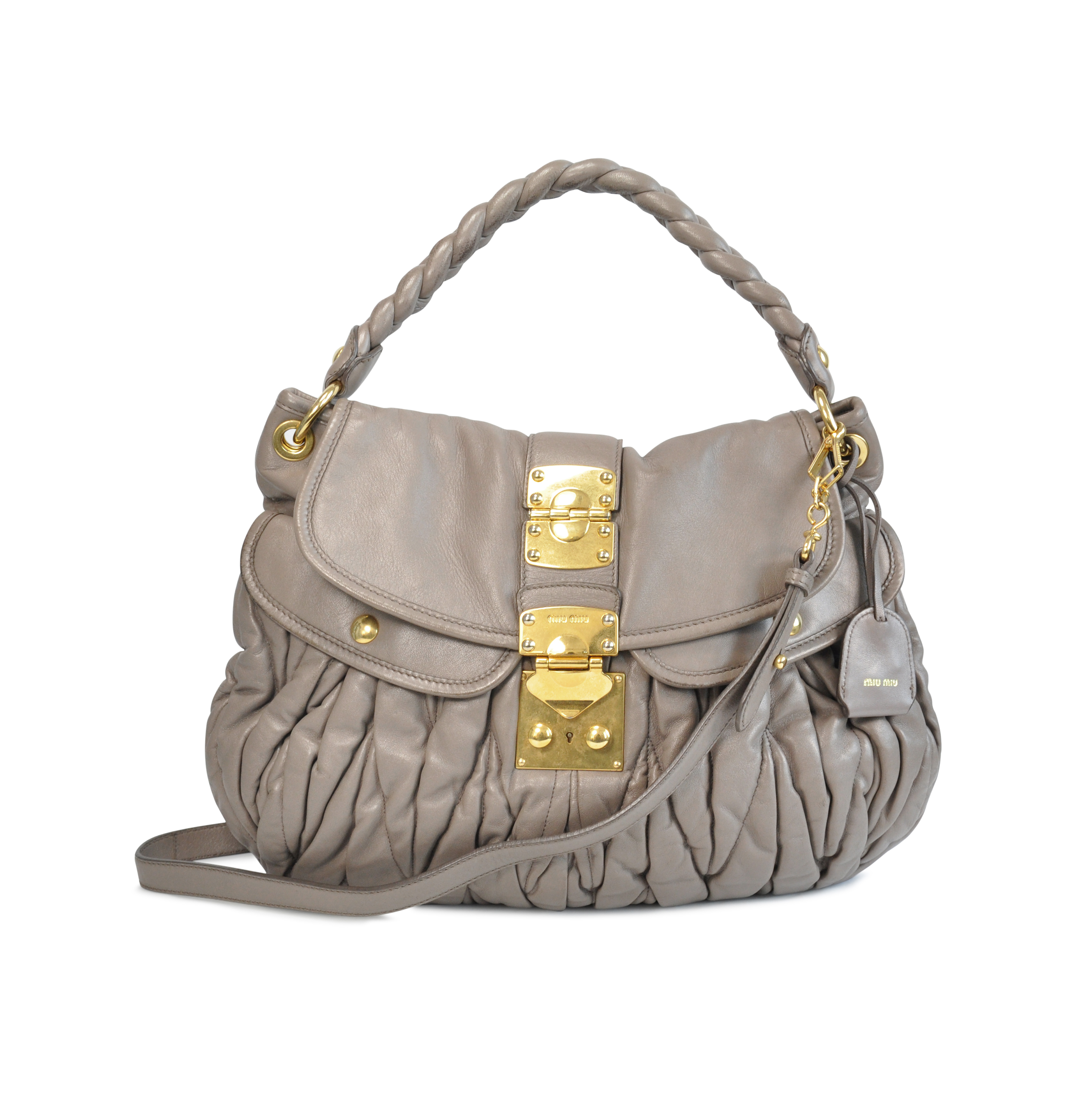 25429d86961 Authentic Second Hand Miu Miu Coffer Matelasse Hobo Bag (PSS-129-00007) -  THE FIFTH COLLECTION