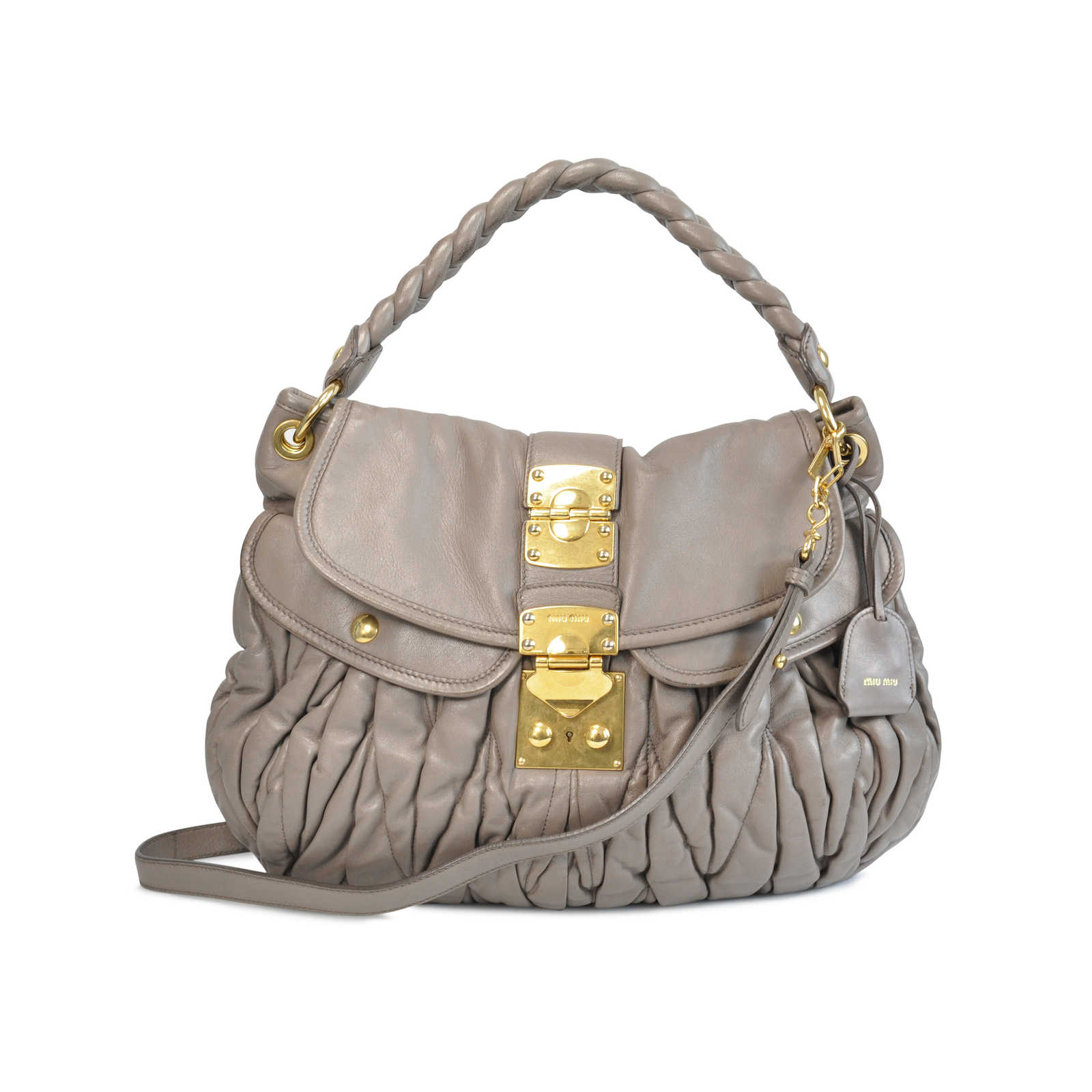 Authentic Second Hand Miu Miu Coffer Matelasse Hobo Bag (PSS-129-00007) ... 5bac63fad1508