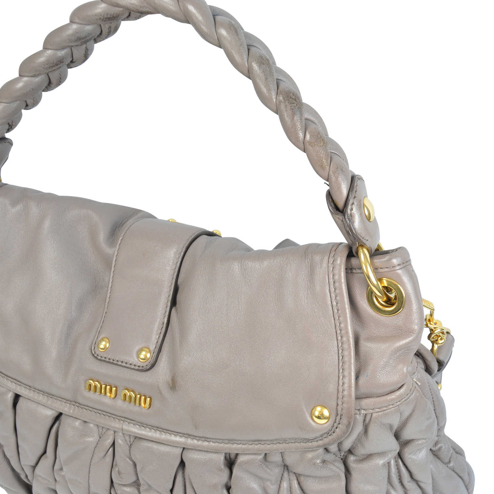 ... Authentic Second Hand Miu Miu Coffer Matelasse Hobo Bag (PSS-129-00007)  ... 208b74639d52c