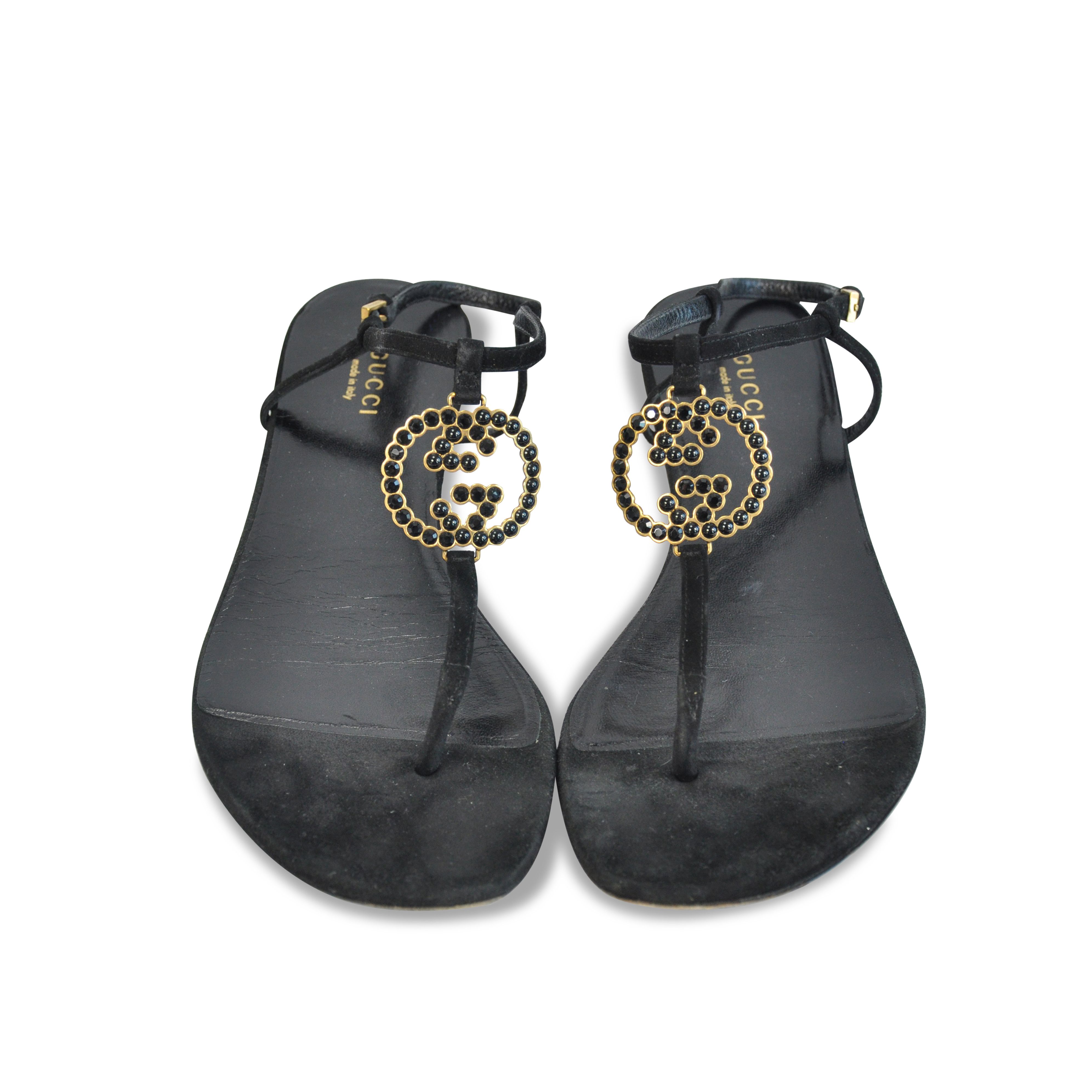 67f80996392a Authentic Second Hand Gucci Jewelled Thong Sandals (PSS-124-00006 ...