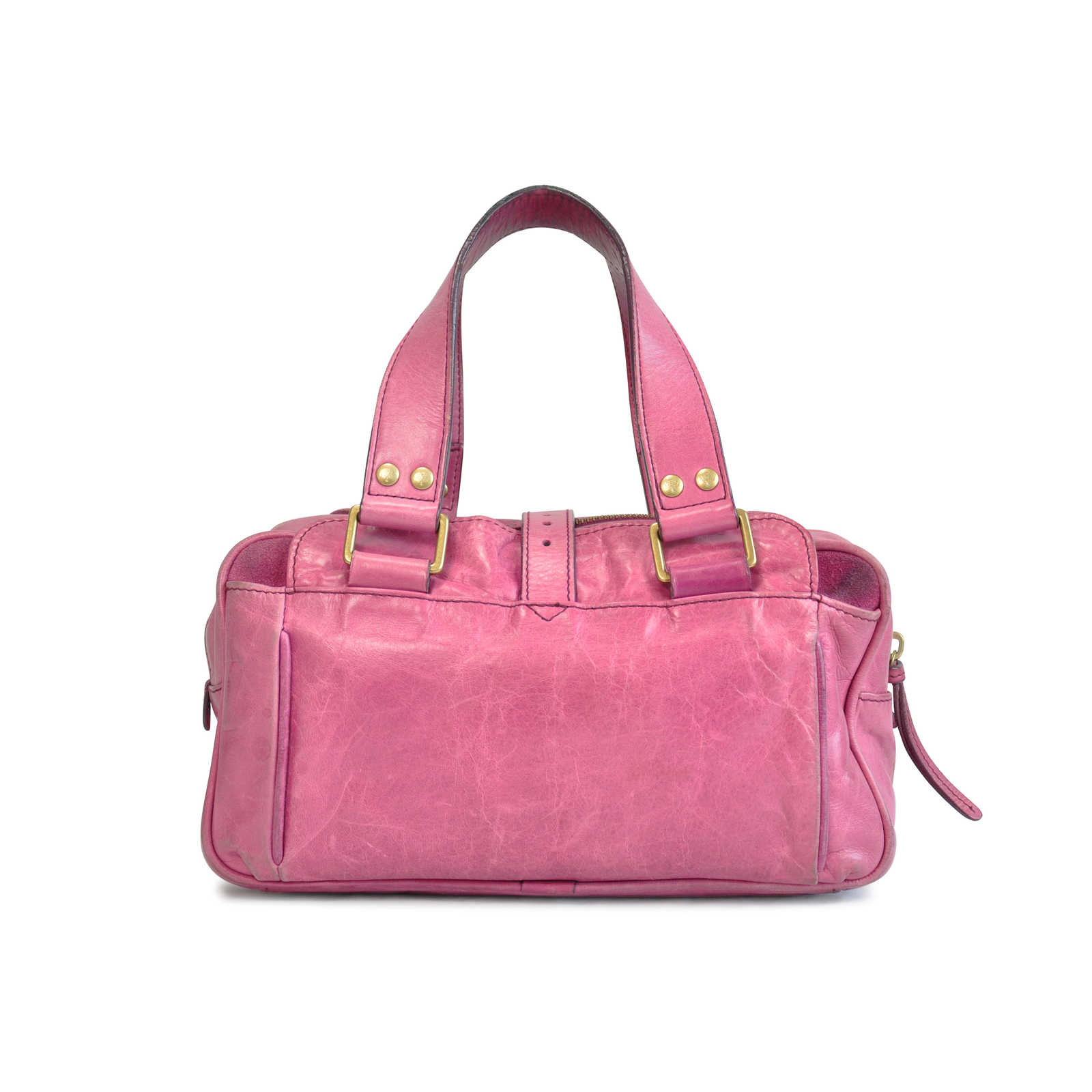 Authentic Pre Owned Mulberry Zippered Handbag Pss 124 00010 Thumbnail 1