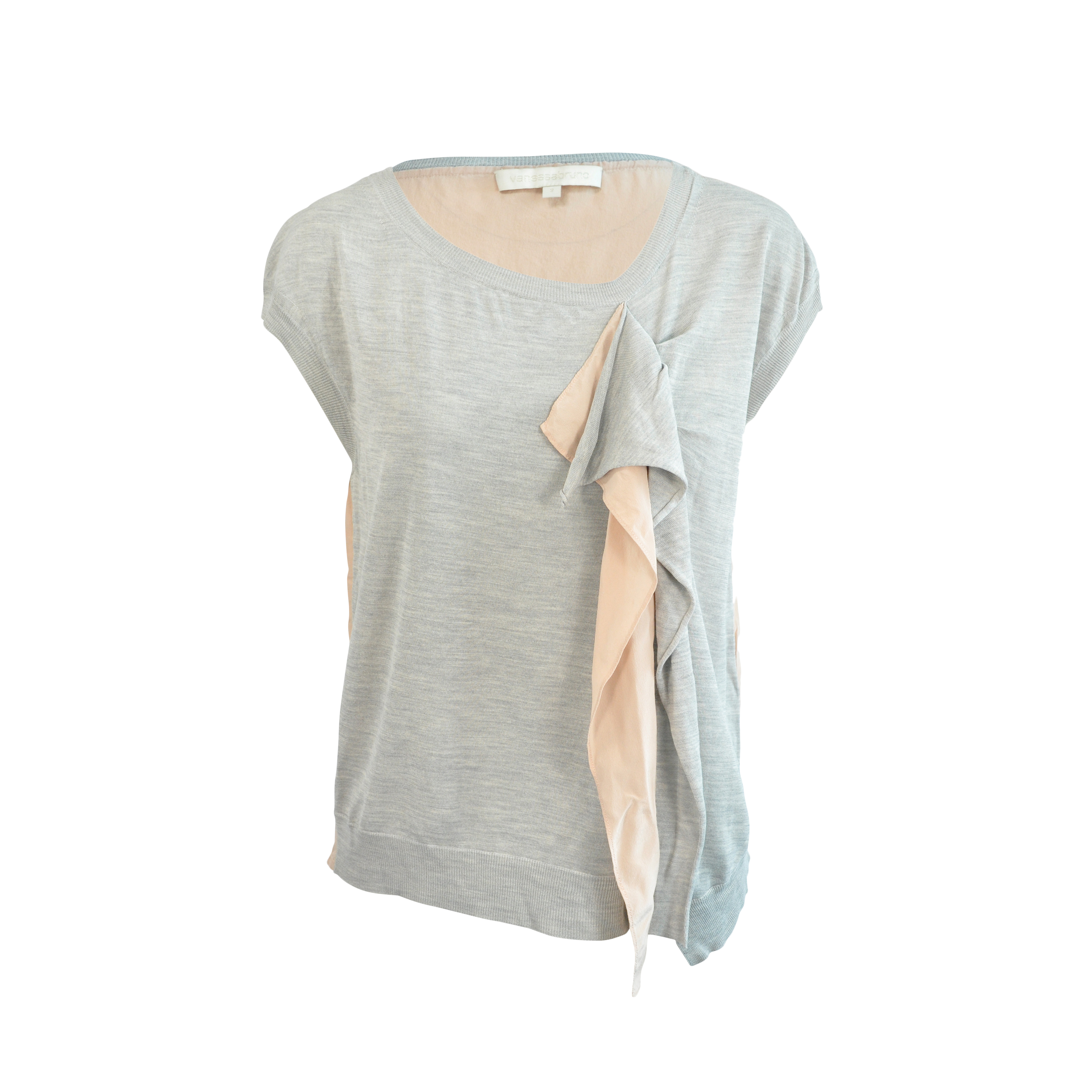 Authentic Pre Owned Vanessa Bruno Silk Ruffle Blouse Pss 125 00005 The Fifth Collection