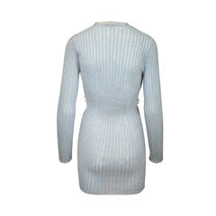 Metallic light blue cardigan 2