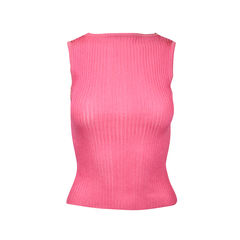 Metallic pink sleeveless top