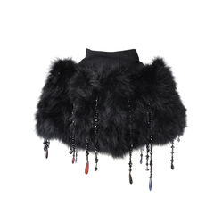 Dolce and gabbana capelet in black 2