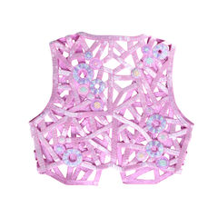 Sequined vest in pink purple 2