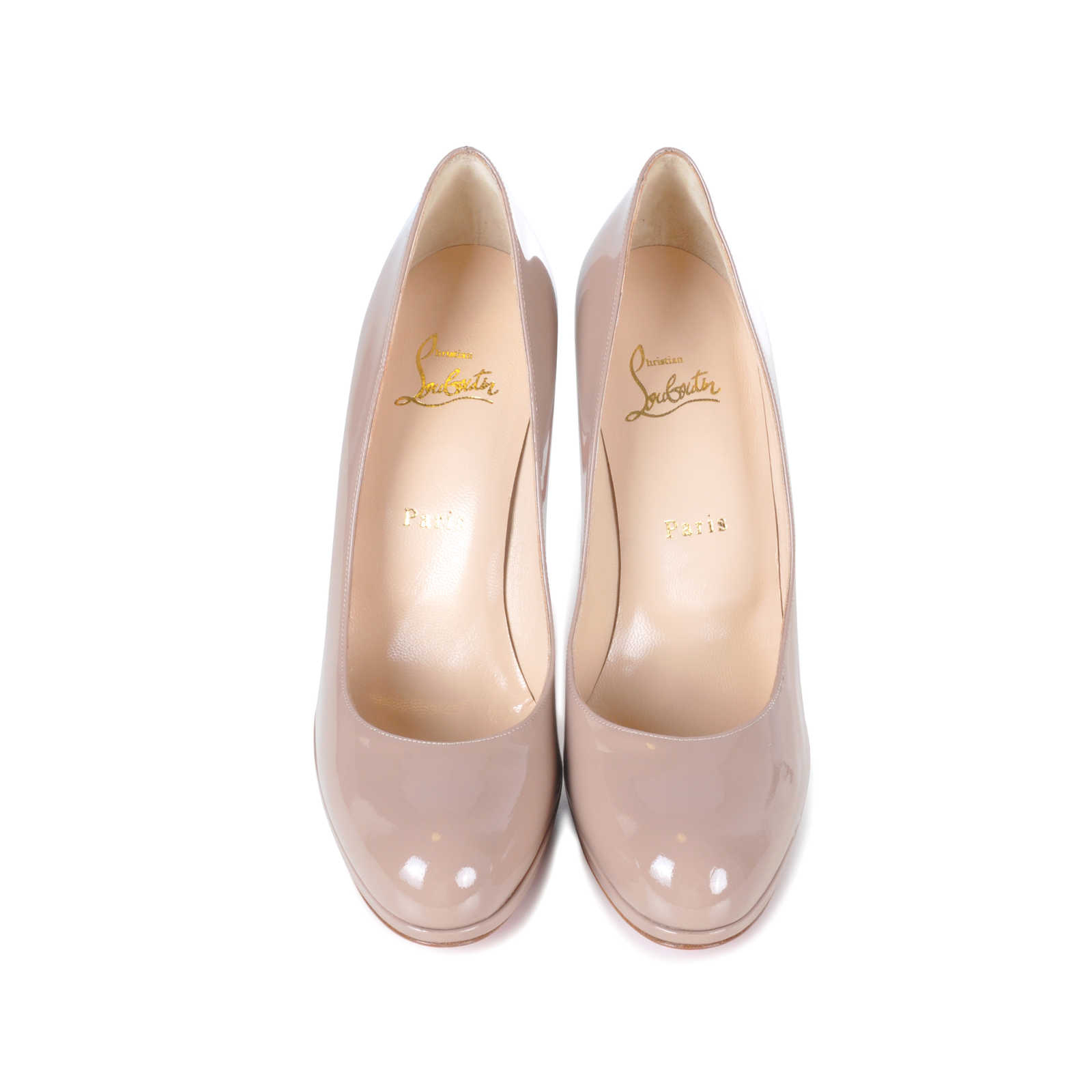 a28f09c9cc28 Authentic Second Hand Christian Louboutin Patent New Simple Pumps  (PSS-074-00059) ...
