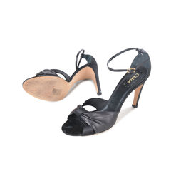 Chloe satin peep toe sandals 2