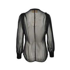 Aijek rebirth silk balloon sleeve blouse pss 132 00003 2