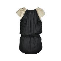 Vera wang silk tie waist top 2