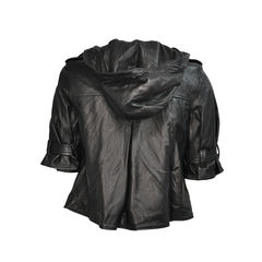 Mike chris short sleeve leather jacket 2