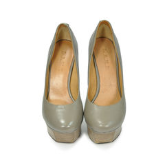 Nikko Leather Platform Pumps