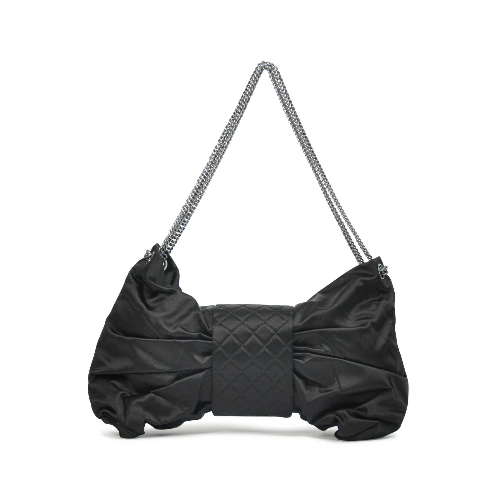 Authentic Pre Owned Chanel Satin Bow Bag Pss 136 00011 Thumbnail
