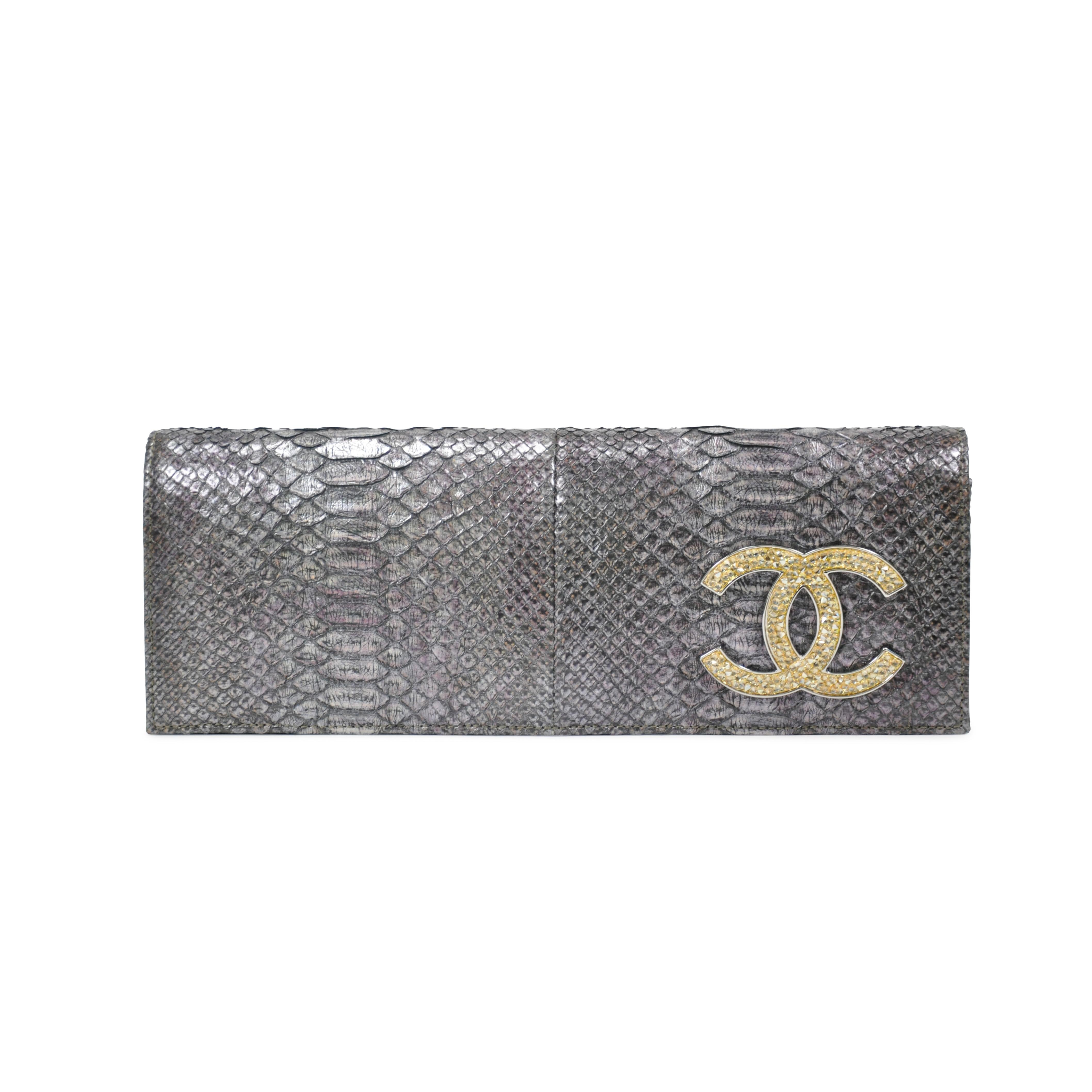 6d10d59266dc ... Classic Double Flap Bag. nextprev. prevnext. prevnext. prevnext.  Authentic Pre Owned Chanel Python Clutch (PSS-136-00012)