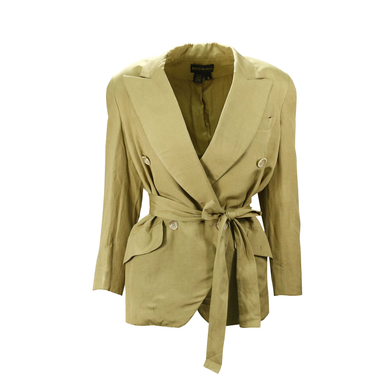 separation shoes 3410c 8a41f Authentic Vintage Donna Karan Beige Blazer (PSS-047-00087 ...