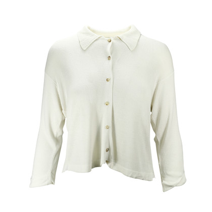 Authentic Second Hand Nicole Farhi Knitted Cardigan With Collar  (PSS-047-00169)
