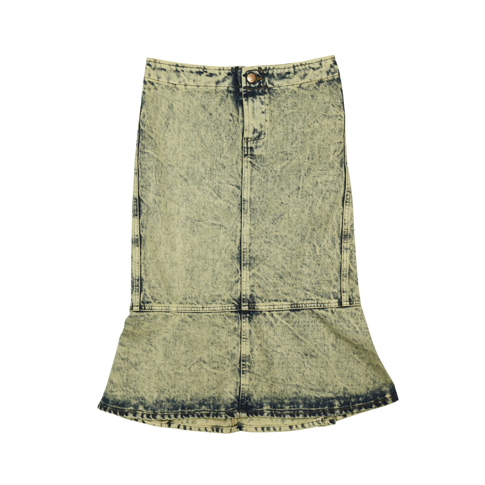second just cavalli bleached denim skirt the fifth