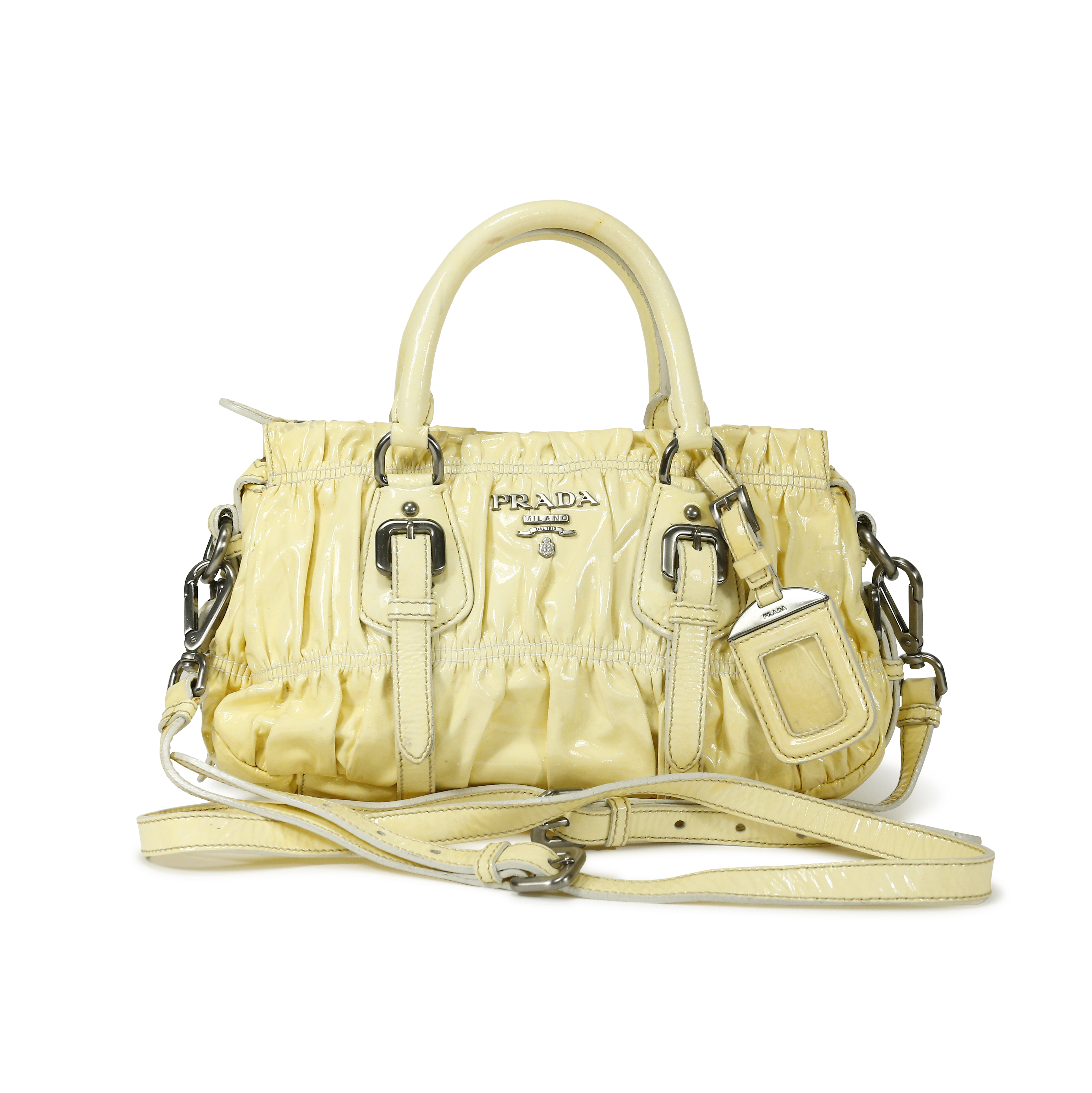 3ee212c98 Authentic Second Hand Prada Tessuto Gaufre Patent Bag (PSS-139-00007) - THE  FIFTH COLLECTION
