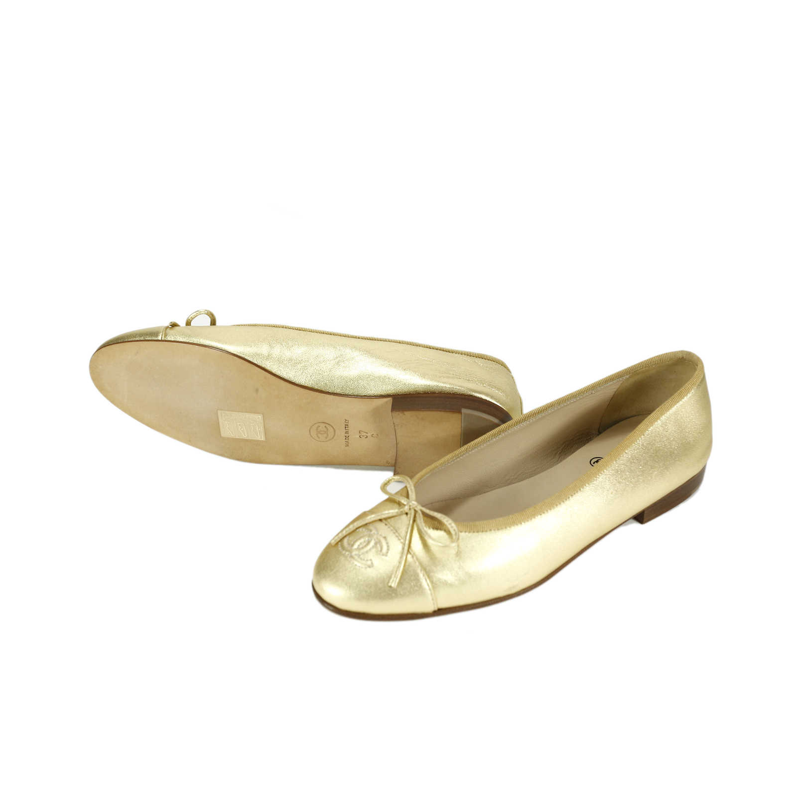 ... Authentic Pre Owned Chanel Ballerina Flats (PSS-145-00002) - Thumbnail  1 ... c0dc2e7c37