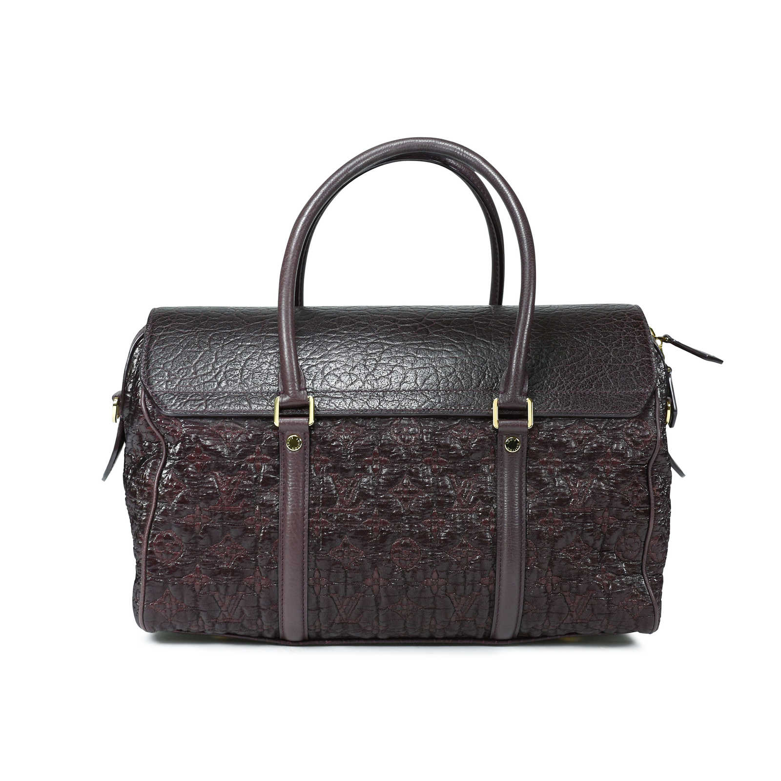 Second Hand Louis Vuitton Pebbled Leather And Fabric Bag The Fifth Collection