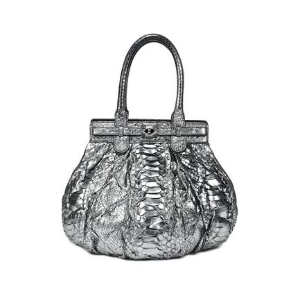 Authentic Second Hand Zagliani Python Shoulder Bag (PSS-143-00003)