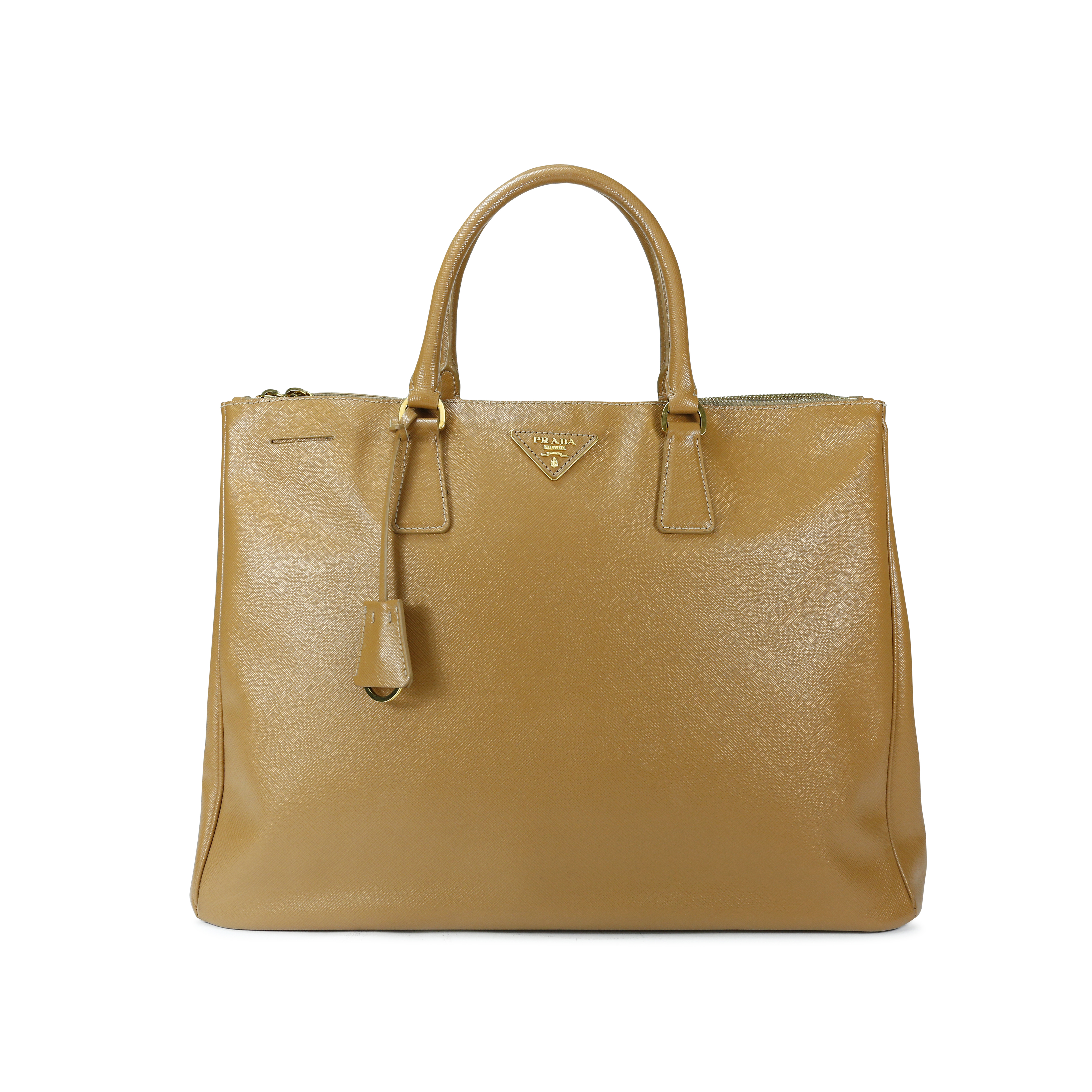 34ccbce2a82005 Authentic Second Hand Prada Saffiano Lux Double Zip Tote (PSS-143-00009) |  THE FIFTH COLLECTION