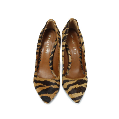 Authentic Second Hand Mulberry Zebra Pony Hair Pumps (PSS-143-00017)