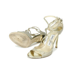 Jimmy choo sparkle strappy sandals 2