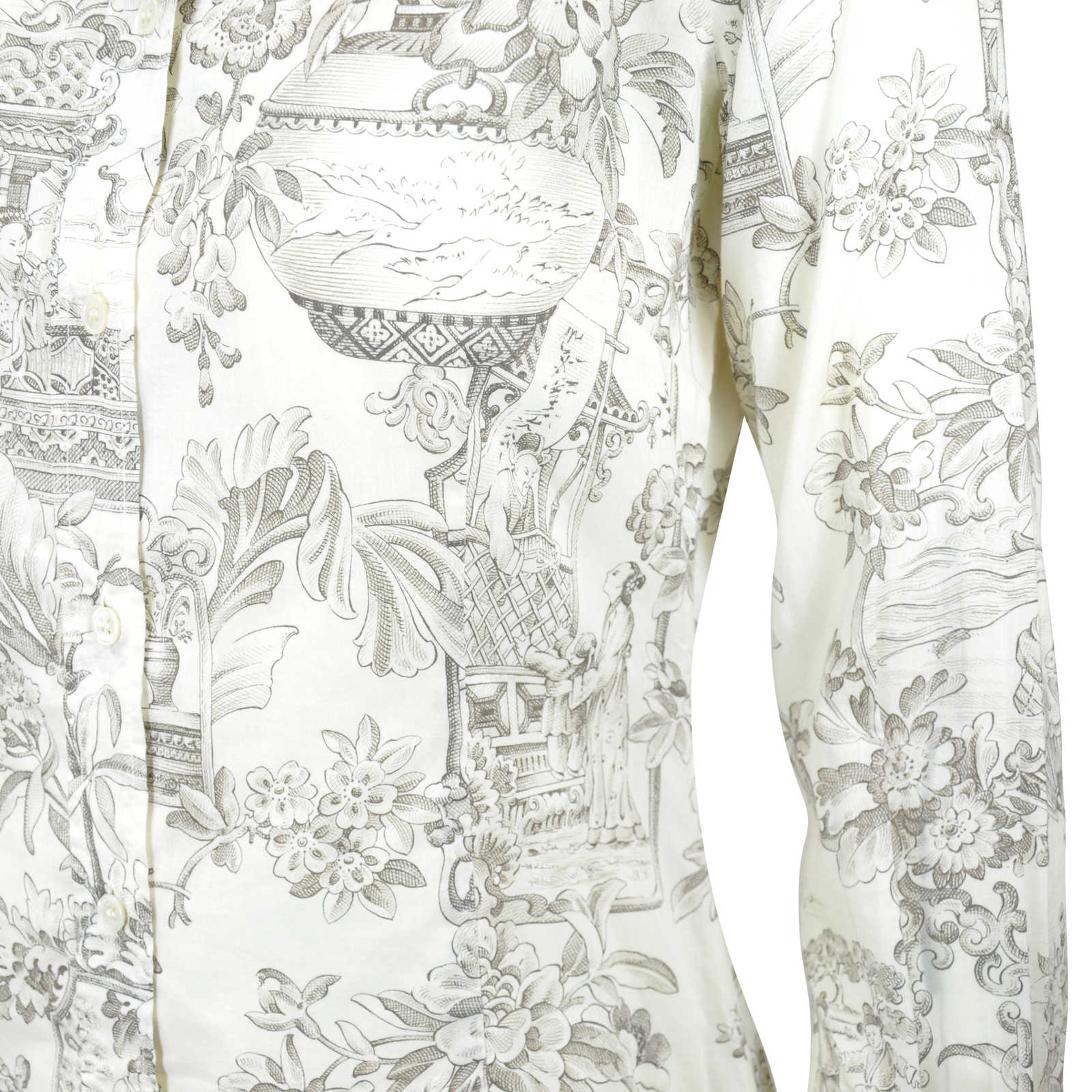 Authentic Second Hand Paul Smith Chinese Print Sheer