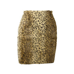Leopard Textured Skirt