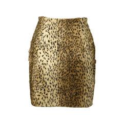 Versus leopard textured skirt 2
