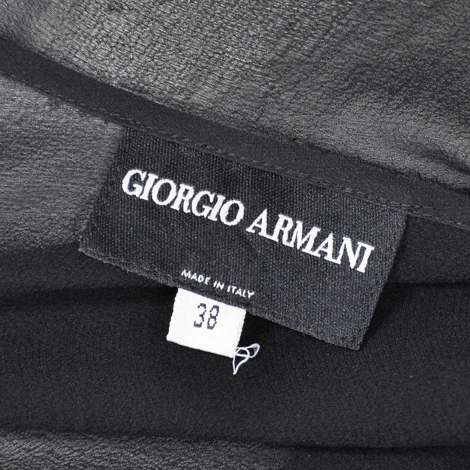8c14e000023 ... Authentic Second Hand Giorgio Armani Sheer Capelet Top (PSS-067-00072) -
